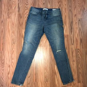 Frayed hem skinny jeans !